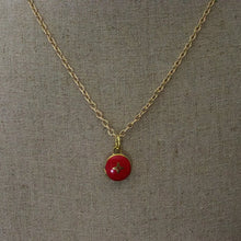 Load image into Gallery viewer, Repurposed Red Louis Vuitton Star Charm Necklace