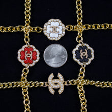 Load image into Gallery viewer, Repurposed Red Chanel Button Bracelet