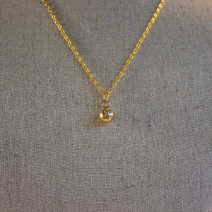 "Repurposed Gold Louis Vuitton ""LV"" Ball Charm Necklace"