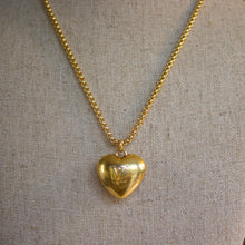 Load image into Gallery viewer, Repurposed Gold Louis Vuitton Heart Charm Necklace