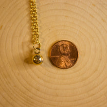 "Load image into Gallery viewer, Repurposed Gold Louis Vuitton ""LV"" Ball Charm Necklace"