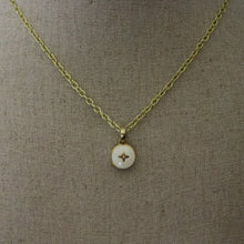 Load image into Gallery viewer, Repurposed White Louis Vuitton Star Charm Necklace
