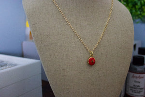 Repurposed Red Louis Vuitton Star Charm Necklace