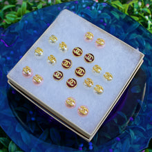 Load image into Gallery viewer, Repurposed 10mm Pink Chanel CC Pearl Studs