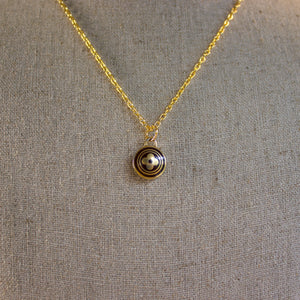 Repurposed Dark Brown Louis Vuitton Flower Charm Necklace