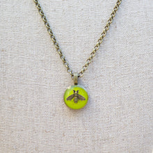 Load image into Gallery viewer, Repurposed Green Gucci Bee Button Necklace