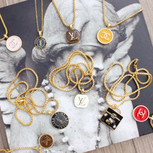 Load image into Gallery viewer, Repurposed Big YSL Button Necklace