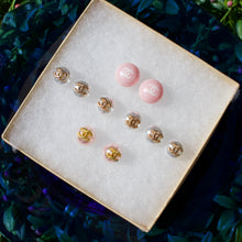 Load image into Gallery viewer, Repurposed 10mm White Chanel CC Pearl Studs