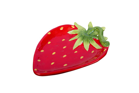 Ceramic Strawberry Plate - Small - Buy one get THREE!