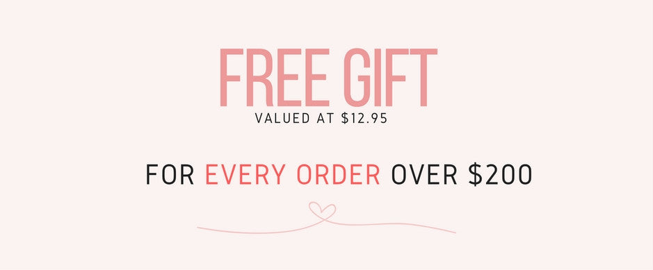 Free gift for orders over $200