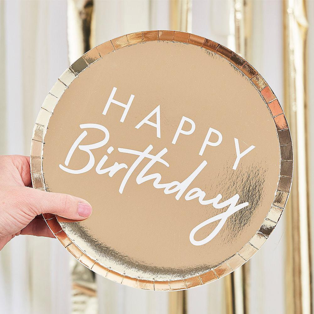 Assiettes Happy Birthday Or - Cuppin's