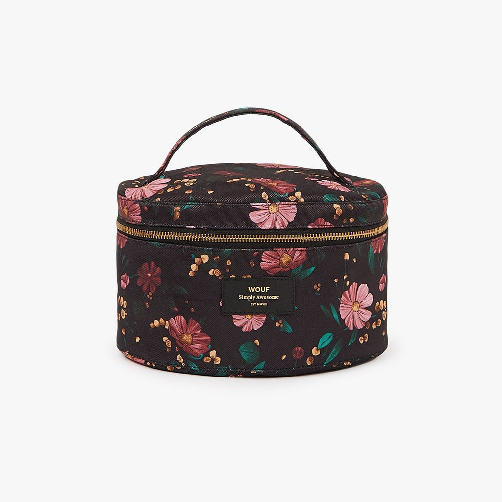 Black Flowers - XL Makeup Bag - Cuppin's