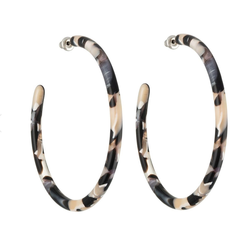 BO Large Hoops - Abalone - Cuppin's