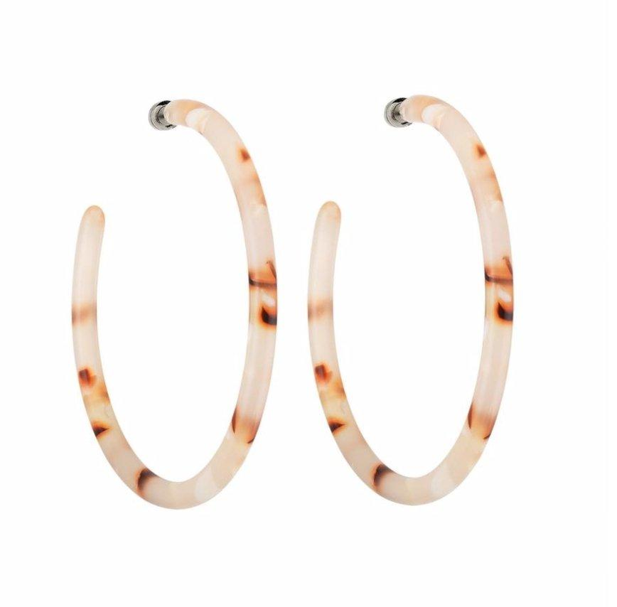 BO Large Hoops - Blush Tortoise - Cuppin's