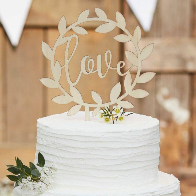 Cake topper LOVE - Ginger Ray - Cuppin's