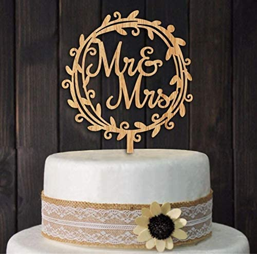 Cake Topper 'Mr & Mrs' - Ginger Ray - Cuppin's