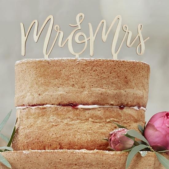 Mr et Mrs Cake Topper - Cuppin's