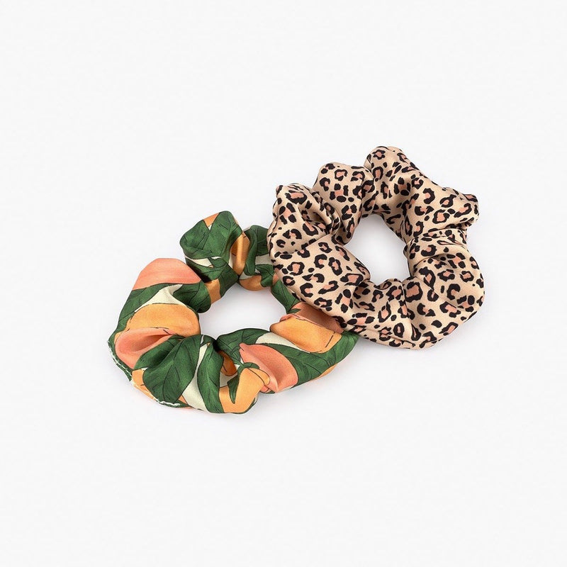 Pink Savannah & Peach - Scrunchie - Cuppin's