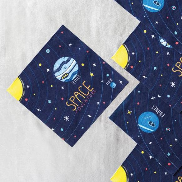 Serviettes 'Space Party' - Cuppin's