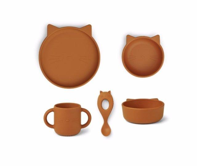 Set de Vaiselle 'Chat' - Moutarde - Cuppin's