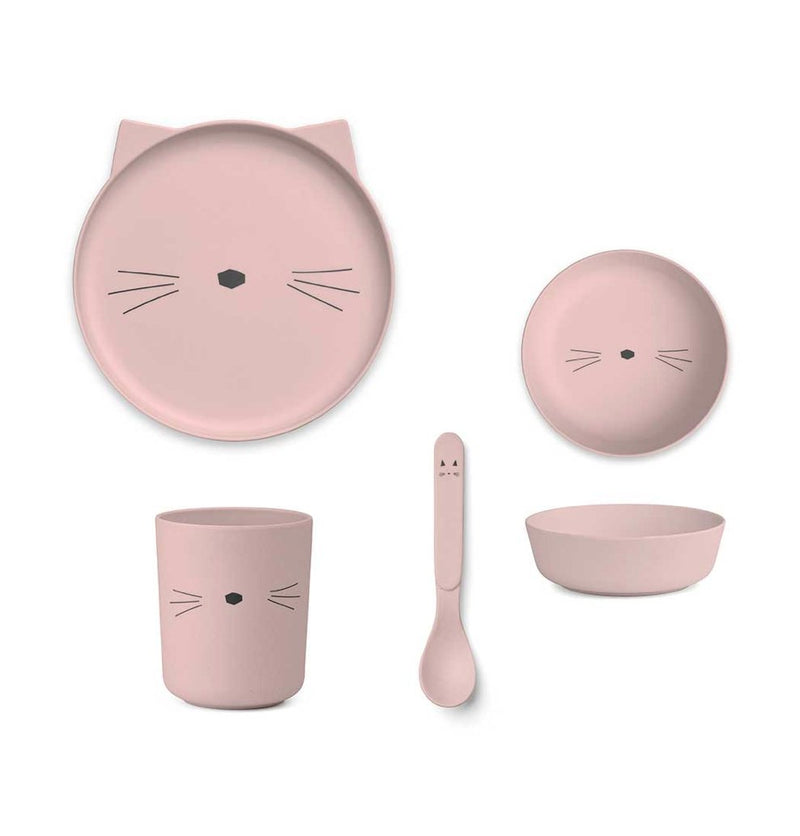 Set de Vaiselle 'Chat' - Rose - Cuppin's