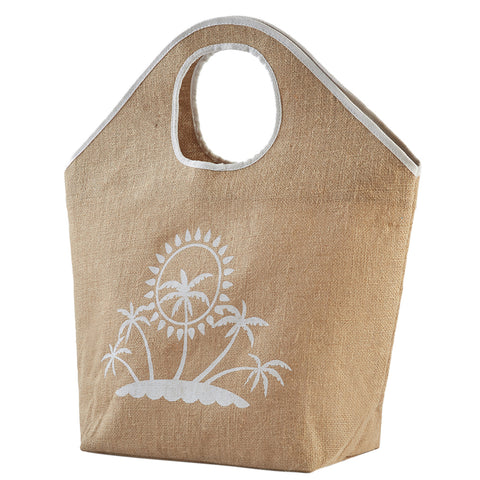 Palm Tree Linen Shopper