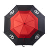 MG Double Layer Golf Umbrella - Red/Black