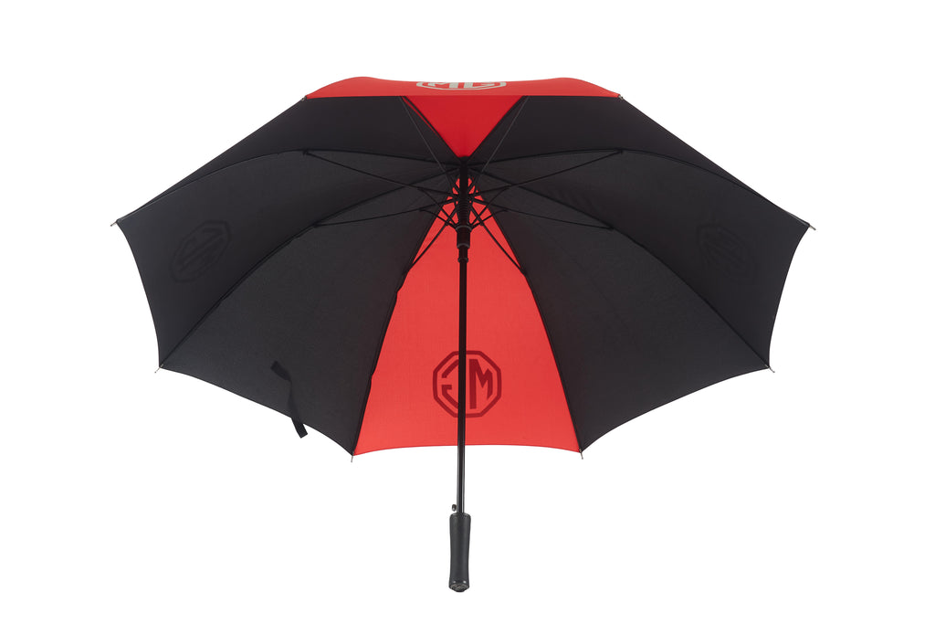 Red Stripe Black MG Golf Umbrella