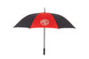 Black/Red Alternating MG Golf Umbrella