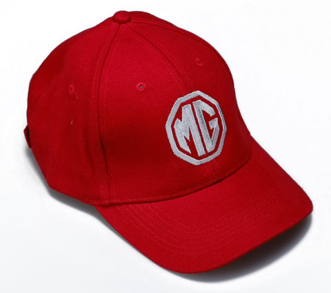 MG Logo Baseball Cap - Red/White
