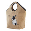 French Bulldog Linen Shopper