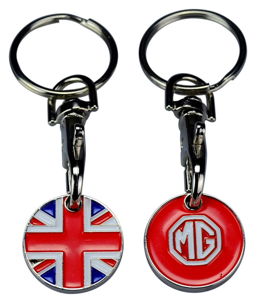 MG Union Jack Trolley Coin Keyring