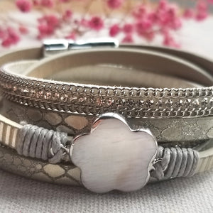 Frozen Flower Bracelet