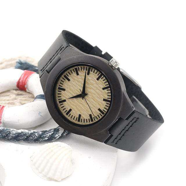 Women's Black Ebony Luxury Wood Watch