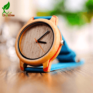Couple's Matching Dual Color Bamboo Watches