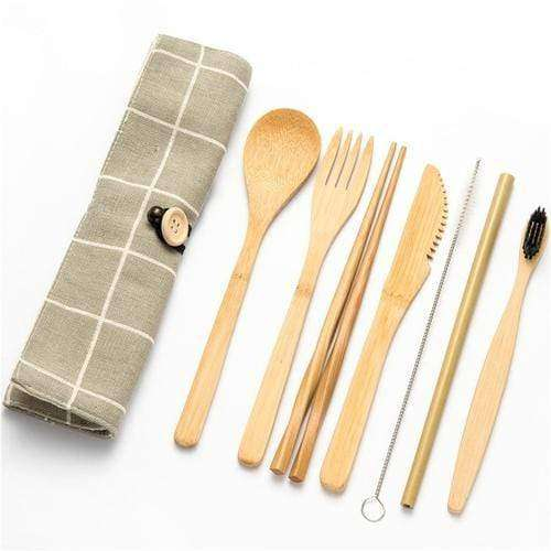 Bamboo Traveling Cutlery Set