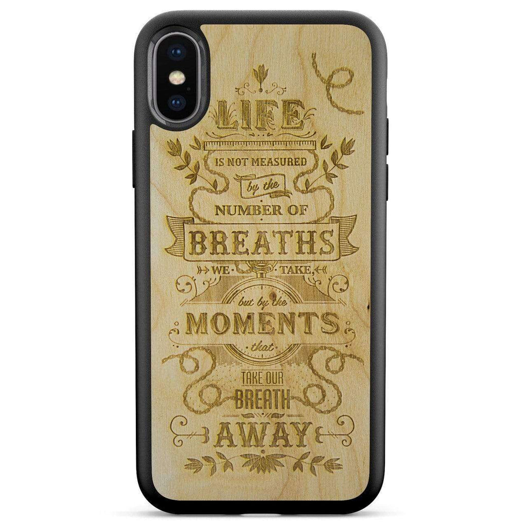 The Meaning - Scandinavian Birch Wood Phone Case