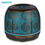 500 ML Ultrasonic Metal Aromatherapy Essential Oil Diffuser Humidifier