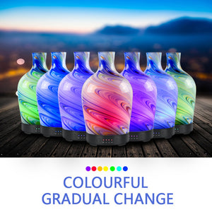 100ml Ultrasonic Aromatherapy Essential Oil Diffuser with Hand Blown Glass Marble Design Bulb