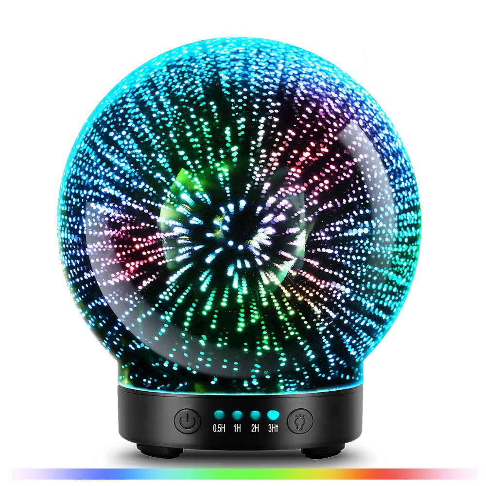 100ml Premium Ultrasonic 3D Glass Essential Oil Diffuser