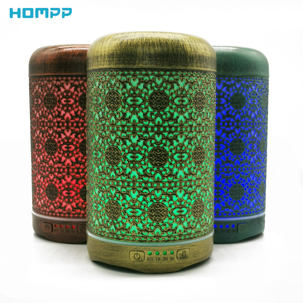 250ml Ultrasonic Metal Essential Oil Diffuser