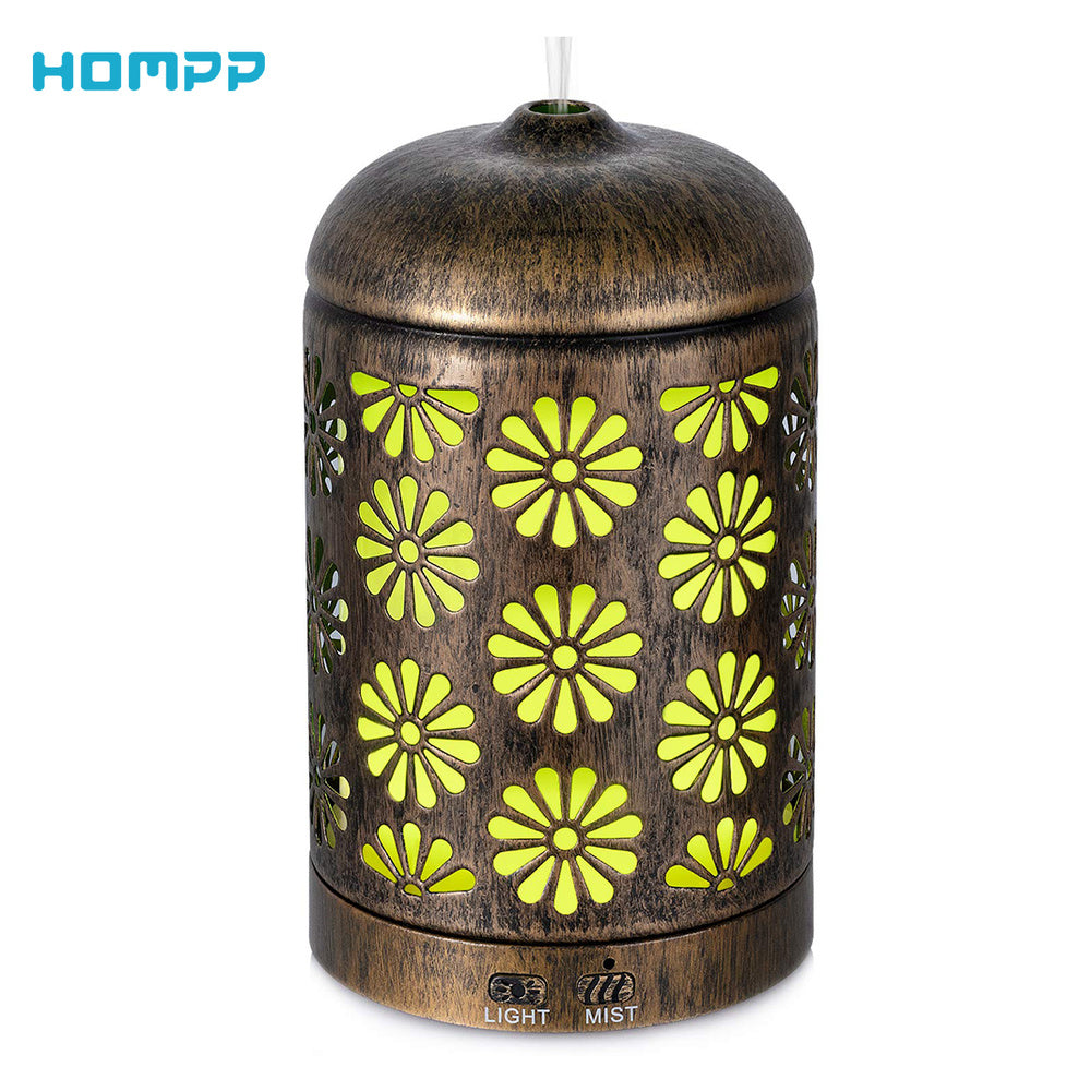 200 ML Vintage Metal Ultrasonic Aromatherapy Humidifier Diffuser