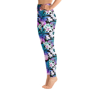 NEON WHITE FLOWER • YOGA LEGGINGS