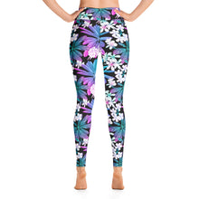 Load image into Gallery viewer, NEON WHITE FLOWER • YOGA LEGGINGS