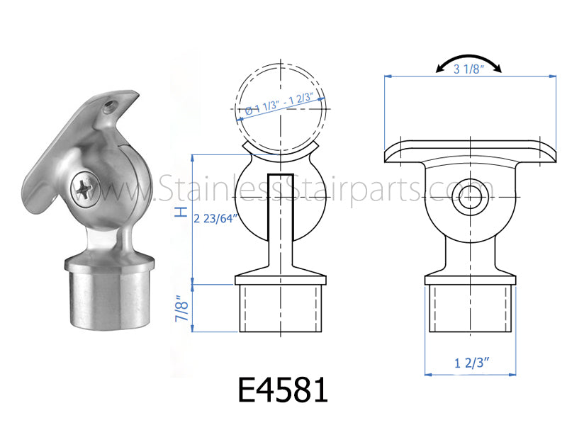 E4581 Stainless Steel Handrail Support
