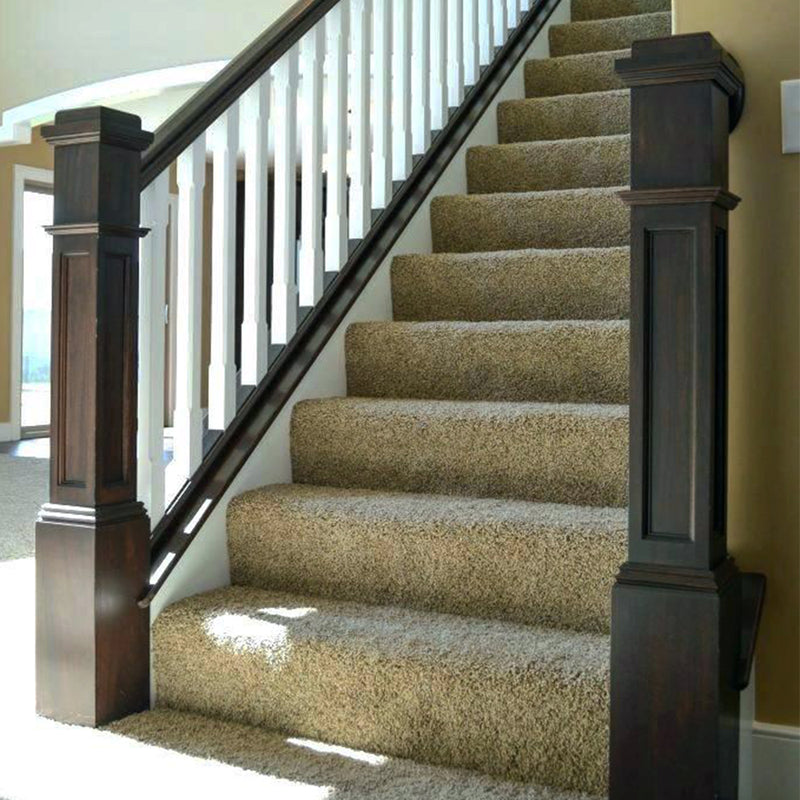 Modern Stair Railing Flat Recessed Panel Box Newel Post