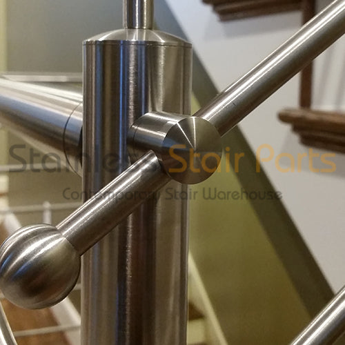 Stainless Steel Round Bar Holder E0069