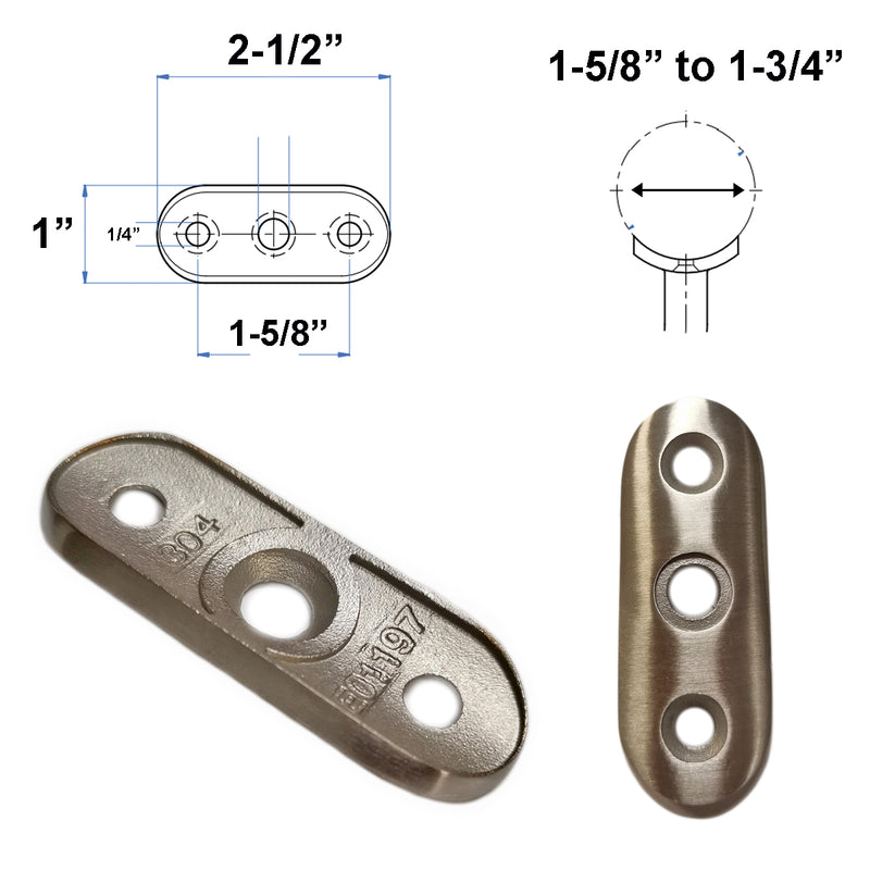 E01197 Stainless Steel Mounting Plate Saddle