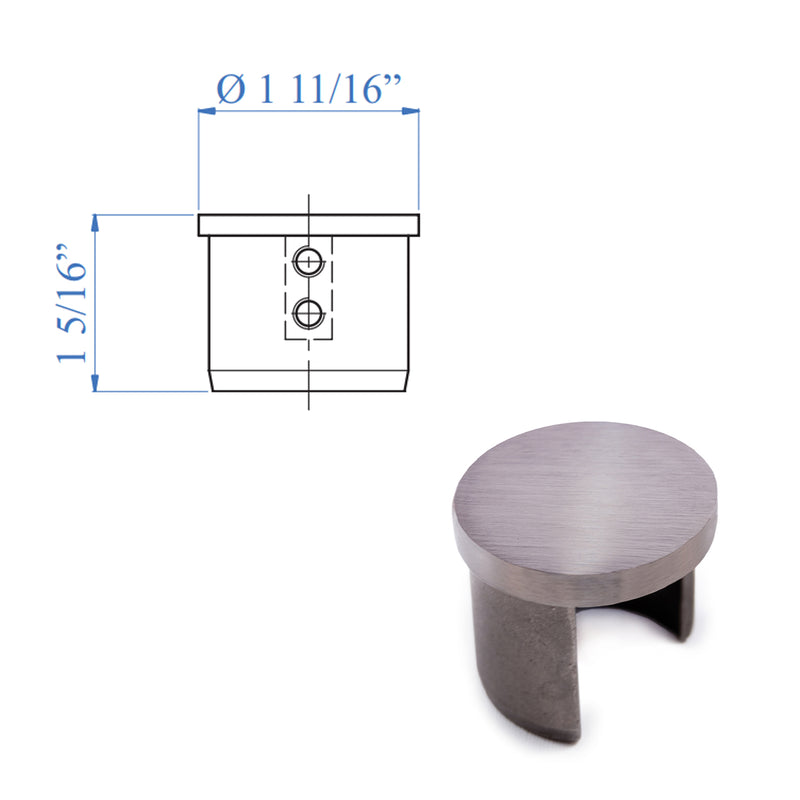 E1100100 Round Cap for Stainless Steel Railing