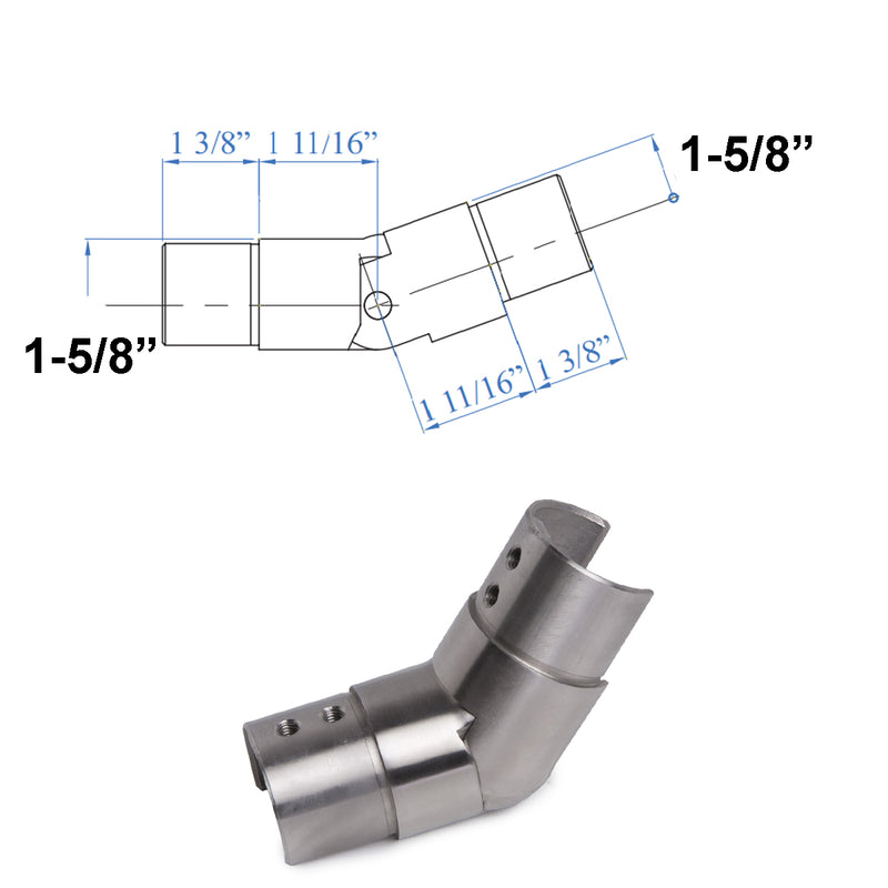 Modern E1510100 Stainless Steel Cap Railing Upward Connector